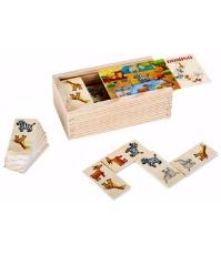Imagine Domino safari din lemn