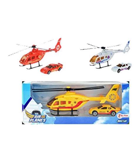 Imagine Elicopter cu masina metalica
