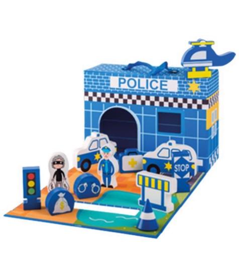 Imagine Sectie de politie din lemn
