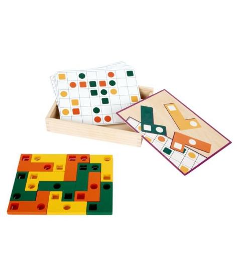 Imagine Puzzle din lemn de tip tetris dupa model