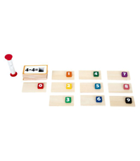 Imagine Adunari si scaderi - joc din lemn