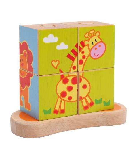 Imagine Puzzle cu cuburi de stivuit Animale