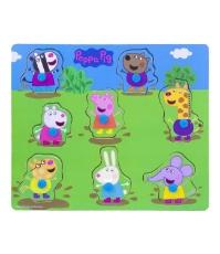 Imagine Puzzle din lemn Peppa Pig 26 x 22 cm